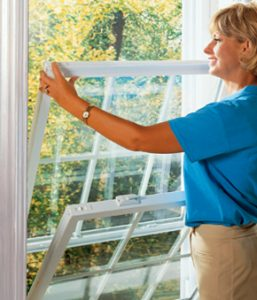 Energy efficient double hung windows for homes and residence in Grand Rapids.