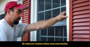 Installed windows without subcontractors