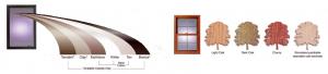 Replacement windows colors and window grain. Grand Rapids, Michigan.
